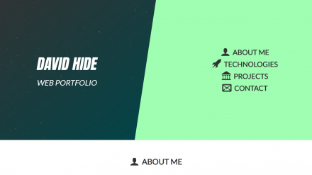 David Hide's web portfolio site